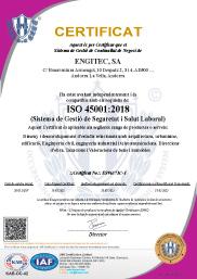 ENGITEC Arquitectura Certificat Qualitat ISO 45001:2018