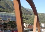 Pont sobre el Riu Valira de Orient, Zona del Parc de la Mola, Enginyeria (Principat d'Andorra)