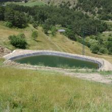 Projecte de construcció d'una bassa de reg a Fontaneda