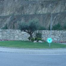 Rotonda de Gir a la C.G. núm. 1, Zona Frontera Espanyola
