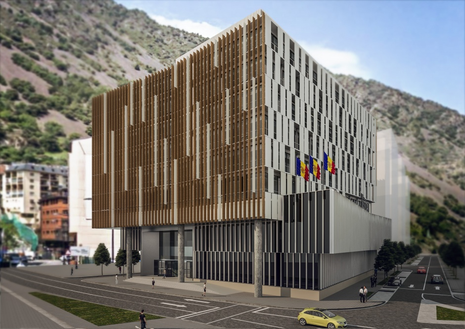 Contest New Seat of Justice (First Prize), Architecture (Principality of Andorra)