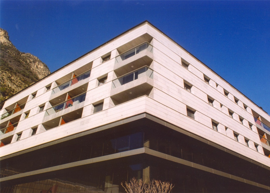 Residential and Commercial Building in the Plaza de la Germandat, Architecture (Principality of Andorra)