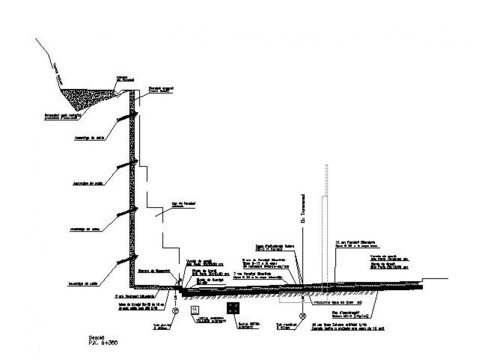 Eixampla i Rectificació, Carretera General 1, PK 8 889.328 al PK 9 385, Zona de Tolse, Enginyeria (Principat d'Andorra)