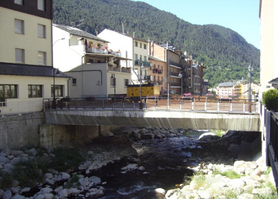 Pont sobre el Riu Valira de Orient, Zona Escoles Encamp, Engineering (Principality of Andorra)