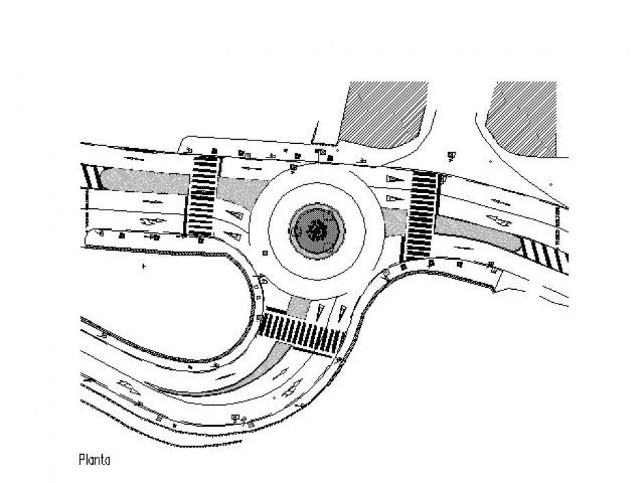 Rotonda Cruïlla de la C.G.3 amb la C.S. 335, Aldosa, Enginyeria (Principat d'Andorra)