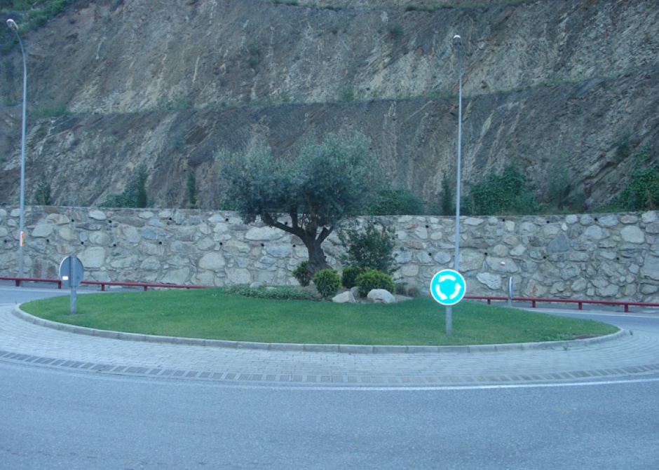 Rotonda de Gir a la C.G. núm. 1, Zona Frontera Espanyola, Enginyeria (Principat d'Andorra)