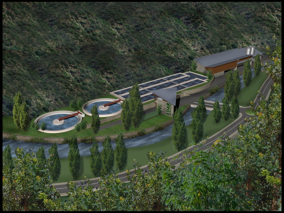 Competition Purifying plant Andorra (Second Prize), Architecture (Principality of Andorra)